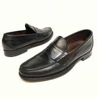 @@ Allen Edmonds Paxton Men's Sz 9A Black Leather Penny Loafer Shoes Slip On EUC