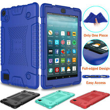 For Amazon Kindle Fire 7 2019/2017/HD 8 2018 Shockproof Soft Silicone Case Cover