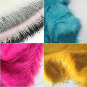 40*50cm Faux Fur Plush Fabric Clothes Sewing Sofa Chair Decor DIY Craft Material