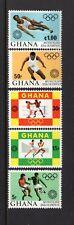 Ghana 1972 OLYMPIC EMBLEMS, BOXING, RUNNING, SOCCER MNH Sc 454-58 SG 640-44