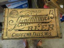 Original Leinenkugel's Beer,Chippewa Falls,Wis.wooden beer crate box beautiful