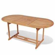 vidaXL Outdoor Garden Coffee Dining Party Picnic Table Weatherproof Teak 2 Sizes