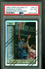 1996 Topps Holding Court Refractors WITH PEEL Shaquille O'Neal PSA 6 EX - NM