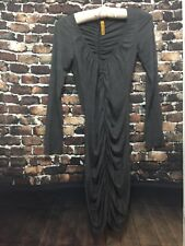 Women's Rachel Pally Gray Jersey Ruched Dress XS Pre-owned
