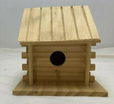 Wooden  Birdhouse single hole  Unfinished 5 x 5 x 5
