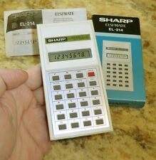 SHARP ELSI MATE calculator EL-214 OVP Taschenrechner JAPAN mit Anleitung 1981
