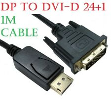 1m DisplayPort Display Port DP to DVI-D 24+1 Male Digital Video Cable Lead PC TV