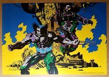 Wolverine Logan Cable Burning Marvel Comics Poster by Mike Mignola
