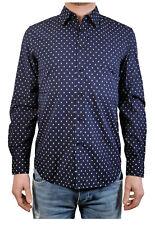 """Diesel Men's Long Sleeve Shirt """" S-FOLK """" Dark Blue/White Stars Size S NEW"""