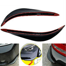 Front or Back Bumper Cover Stickers Protector Guard 3D Black Streamline For BMW