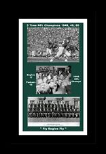 PHILADELPHIA EAGLES 1960 NFL CHAMPS MATTED COLLAGE PIC OF TEAM, GAME&CELEBRATION