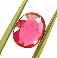 2.13 Ct Natural Certified Ruby Loose Gemstone Oval Cut Mozambique Stone - 133151