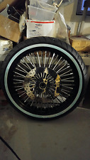 21 X 3.5 FAT SPOKE WHEEL, DD ROTORS & WW TIRE HARLEY TOURING FLH/FLT 2000-2007