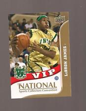LeBron James  Upperdeck 2010 National Sports Convention Card # VIP-3