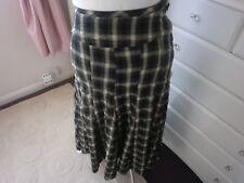 NEXT Black/Cream crinkle skirt size 8