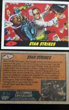 2013 Stan Lee Comikaze Exclusivité Topps Mars Attaques Frappes Promo Carte #1