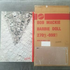 NIB NRFB BOB MACKIE PLATINUM BARBIE COLLECTION 2703 WITH ORIGINAL SHIPPING