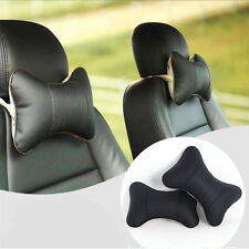 2x Car Neck Rest Cushion Headrest Seat Pillow Cover Comfortable Pad Universal PU