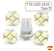 x5 Bombillas LED T10 W5W 1210 Luz Blanca 7000K Coche T cuña interior exterior