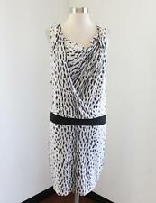 NWT Iris Setlakwe White Gray Abstract Spotted Ruched Dress Size XS Cheetah