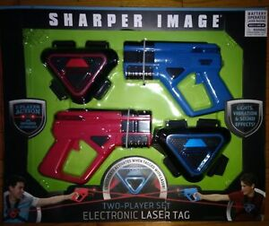 Sharper Image Laser Tag Two Player Action W/Infrared T. Electronic Laser Tag Set