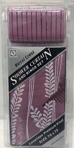 "Royal Crest Shower Curtain & Ring Set Vinyl 70"" X 72"""