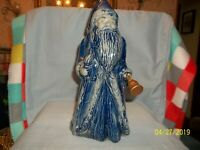 Vintage Rowe Pottery 2007 Christmas Santa Salt Glazed 20th Annual