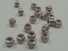 20 Tibetan Style Bead Spacers, Antique Silver, 5x4mm, Hole 2.5mm