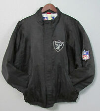 Vintage Oakland Raiders Black NFL Apex One Shiny Jacket Size L Large