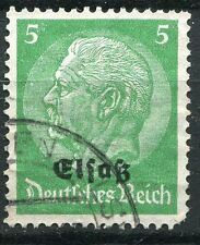 FRANCE TIMBRE  ALSACE LORRAINE  N° 10  OBL  TIMBRE ALLEMAND HINDENBOURG