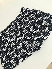 SPORTSGIRL WOMENS SHORTS CHECK COTTON BLACK WHITE SZ 6