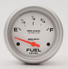 """AUTOMETER Ultra-Lite Electric UNIVERSAL GM CHEVY FUEL LEVEL GAUGE 2 5/8"""" (67mm)"""