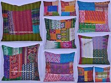 200 Pc Wholesale Lot Cushion Cover Handmade Silk Kantha Pillow Case Decor