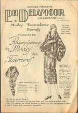 45 COURTENAY ETS DELAMOUR PROSPECTUS MODE FOURRURES 1925