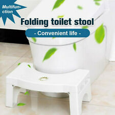 Toilet Stool Folding Step Stools for Bathroom Non-Slip Step Up Stool Squatting