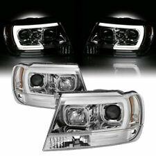 1999 -2004 Jeep Grand Cherokee WJ Spyder Neon LED DRL Projector Headlights RARE