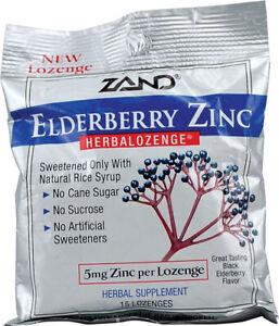 Elderberry Zinc Lozenges by Zand, 15 piece