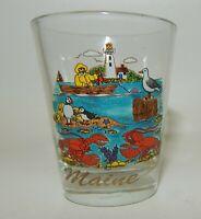 Vintage Maine Colorful Scenic Souvenir Shot Glass