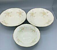 """Crown Potteries Co C.P. Co Pattern # 9107 3 Serving Bowls 1x 8"""" 2x 9 1/2"""""""