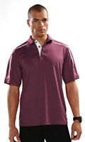 Tri-Mountain Men's Polyester Three Button Placket Short Sleeve Polo Shirt. 174