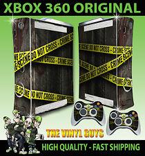XBOX 360 viejo forma escena del crimen Piel adhesiva impresión de mano de cinta de la policía y 2 pieles Pad
