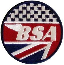 BSA Union Flagge / Schachbrettmuster Rund Bestickt Stoffaufnäher 80mm ( Yy )