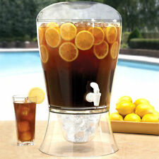 8L Large Drinks Dispenser Jug & Cocktail Fruit Punch Infuser with Tap UK camping