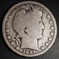 1897-O BARBER HALF DOLLAR - GOOD *SEMI-KEY*