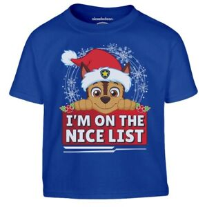 Paw Patrol Chase Ugly Christmas I M On The Nice List Kinder Jungen T-Shirt