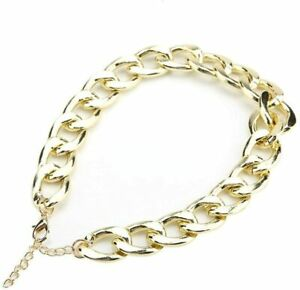 Metal Pet Necklace Gold Plated Pet Necklace Fashionable Adjustable Pet Cat Small