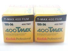 2 x KODAK TMAX 400 35mm EXP a buon mercato nero e bianco pellicola per 1st Class Royal Mail