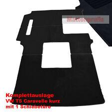 Premium Velour Fußmatten Komplettauslage für VW T5 Caravelle 1 ab Bj.04/2003