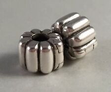 AUTHENTIC PANDORA 925 ALE STERLING SILVER RIBBED CLIP CHARM 790163