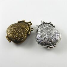 2pcs Mixed Color Toad Shaped Zinc Alloy Locket Charms Pendants Findings 52609